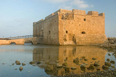 Paphos Harbour Castle Poster by Jeremy Voisey