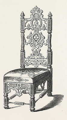 Papier Mache Chair Poster by Jennens And Bettridge, English, 19th Century
