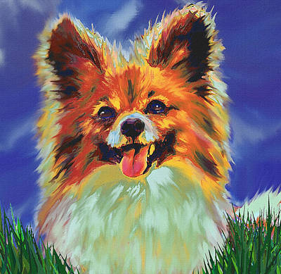 Papillion Puppy Poster by Jane Schnetlage