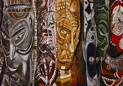 Papua New Guinea Masks Poster