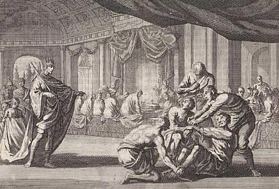 Parable Of The Royal Wedding, Print Maker Jan Luyken Poster by Jan Luyken And Pieter Mortier