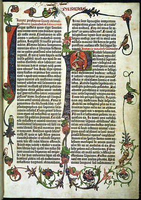Parabole Or Proverbs. In The Gutenberg Bi Poster by British Library