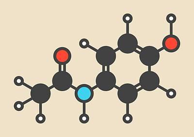 Paracetamol Molecule Poster