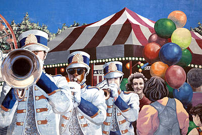 Parade Mural In Dothan Poster by Carol M Highsmith