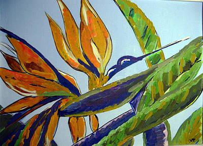 Paradise Bird Flower Poster