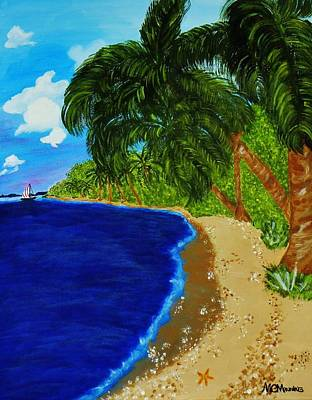 Poster featuring the painting Paradise by Celeste Manning