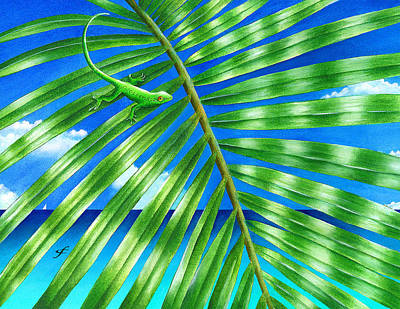 Paradise Frond Poster by Carolyn Steele