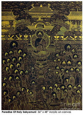 Poster featuring the painting Paradise Of Holy Sakyamuni by Fei A