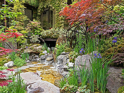 Paradise On Earth - Japanese Garden Poster by Gill Billington