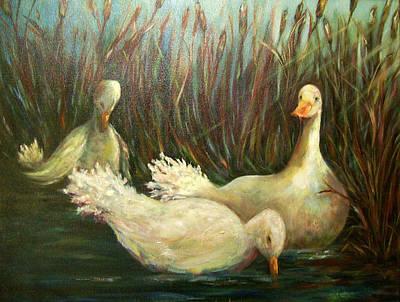 Paradise Pond,ducks  Poster
