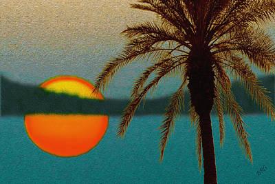 Paradise Sun Poster by Ben and Raisa Gertsberg