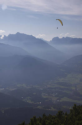 Paraglider's View Poster