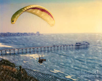 Paragliding Torrey Pines Poster by Glenn McNary