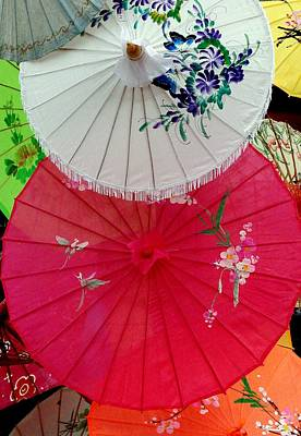 Parasols 1 Poster by Rodney Lee Williams