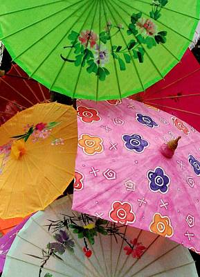 Parasols 2 Poster by Rodney Lee Williams