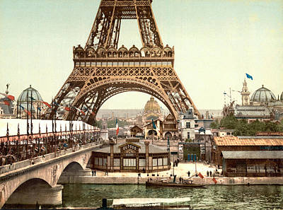 Paris 1889 World's Fair Poster by Library of Congress