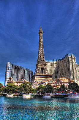 Paris Across From Bellagio  Poster by Andrew Pacheco