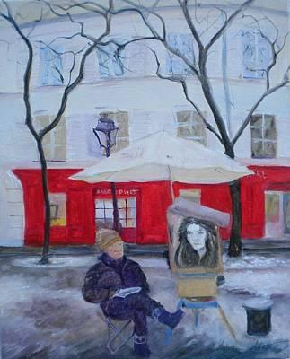Paris Artist, 2010 Oil On Canvas Poster by Antonia Myatt