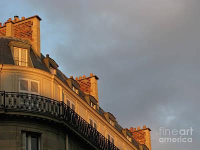 Paris At Sunset Poster by Ann Horn