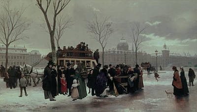 Paris Bus Accident Poster by Alphonse Cornet
