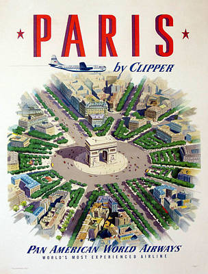 Paris By Clipper Poster by Georgia Fowler