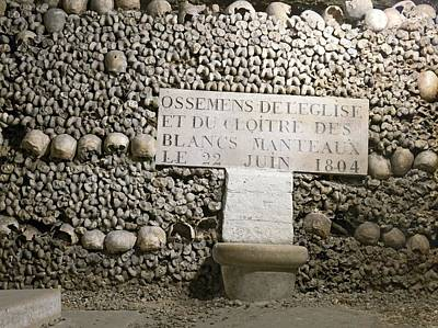 Paris Catacombs Poster by Science Photo Library