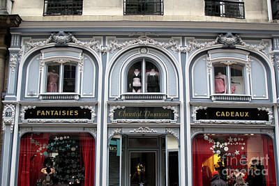 Paris Chantel Thomass French Lingerie Luxury Shop Architecture Paris Luxury Lingerie Shop Poster