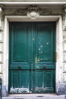 Paris Door - Teal Poster by Georgia Fowler