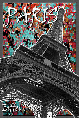 Paris - Eiffel Tower Poster by Mark Compton
