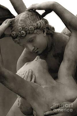 Paris - Eros And Psyche Romantic Sculpture Poster