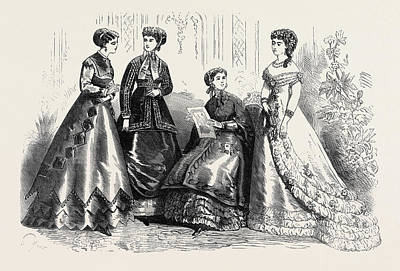 Paris Fashions For August France 1867 Poster