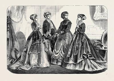 Paris Fashions For November France 1867 Poster