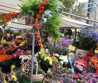 Paris Flower Market Poster