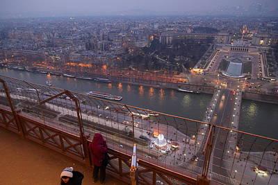 Paris France - Eiffel Tower - 011317 Poster by DC Photographer