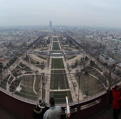 Paris France - Eiffel Tower - 01132 Poster by DC Photographer