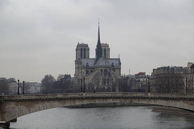 Paris France - Notre Dame De Paris - 011313 Poster by DC Photographer