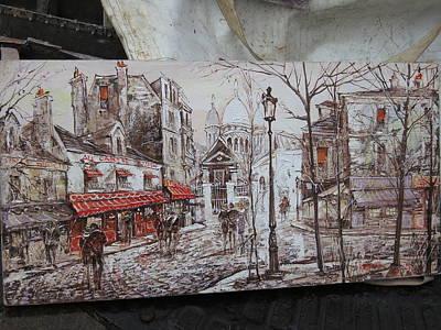 Paris France - Street Scenes - 121229 Poster by DC Photographer