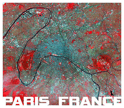 Paris From Above Poster by Theo Westlake