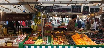 Paris Fruit Market Poster