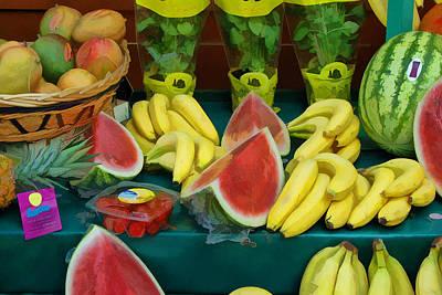 Paris Fruit Stand Poster by Allen Beatty