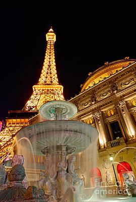 Paris Hotel And Casino In Las Vegas Poster by Jamie Pham