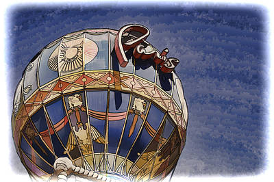 Paris Hotel Hot Air Balloon - Las Vegas Poster by Jon Berghoff