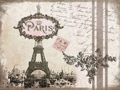 Paris In Pink Poster