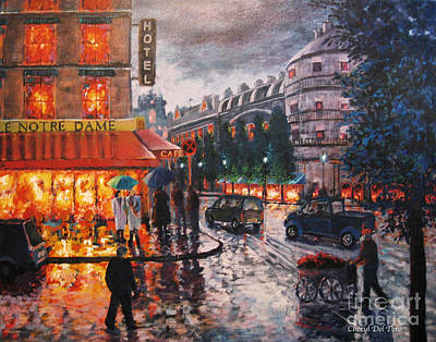 Paris In The Rain Poster