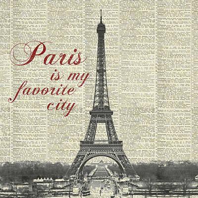 Paris Is My Favorite City Poster