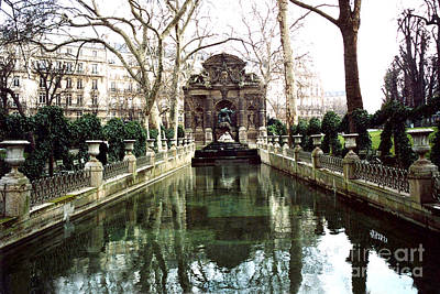 Paris Jardin Du Luxembourg Gardens - Medici Fountain Sculpture Monuments Park  Poster by Kathy Fornal