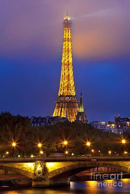 Paris Lights Poster by Brian Jannsen