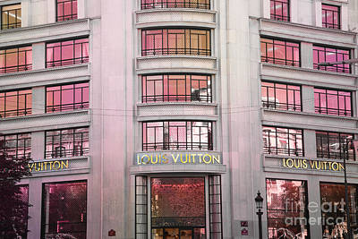 Paris Louis Vuitton Boutique Fashion Shop On The Champs Elysees Poster by Kathy Fornal