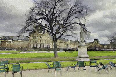 Paris Louvre 1 Poster