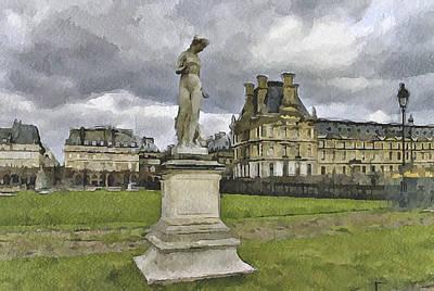 Paris Louvre 2 Poster